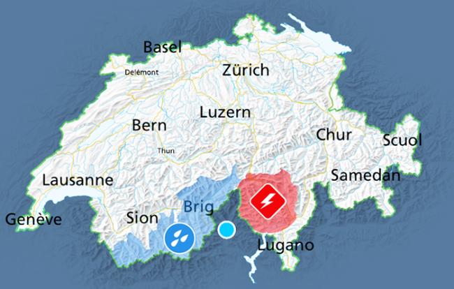 allarme meteo svizzera