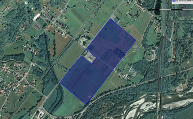 area ospedale domo villa vista satellite