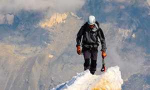 b scalatore neve cima