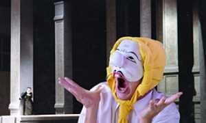 b stranagente maschera teatro