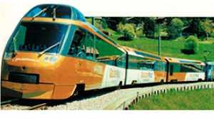 b treno svizzero panoramico golden