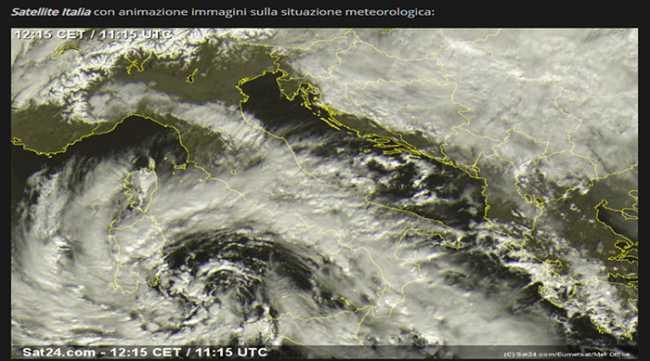 ciclone mediterraneo 24 1 2019