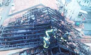 corta incendio binda tetto vista alto