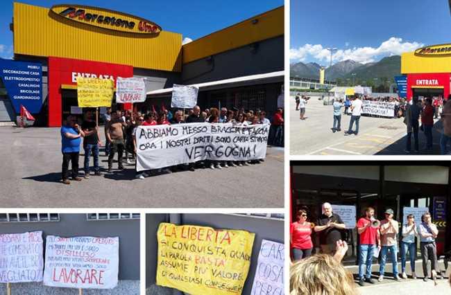 mercatone lavoratori protesta crevola mix 19