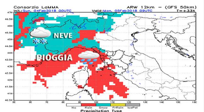 meteo mappa neve feb 18