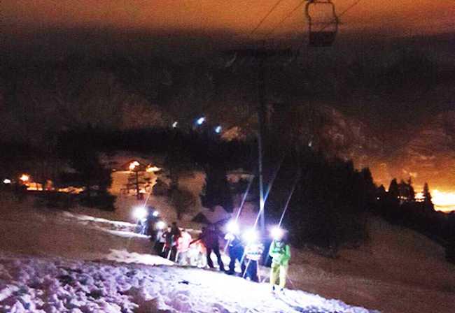 neve notte ciaspole torce lusentino