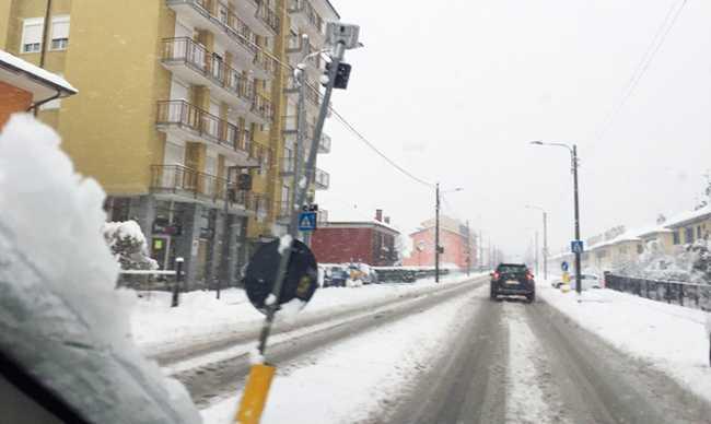 neve villa villaggio strada