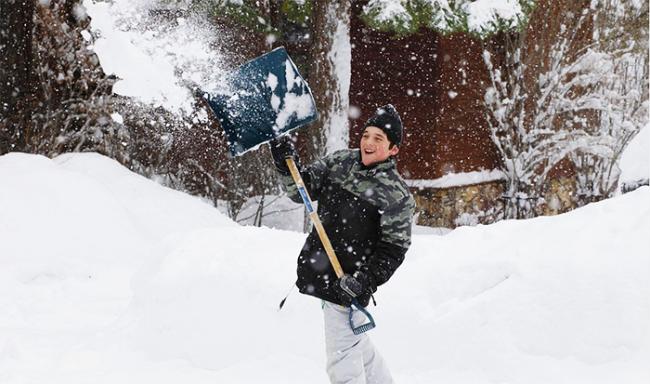 pala neve ragazzo
