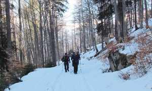 pescia inverno salita camminata neve