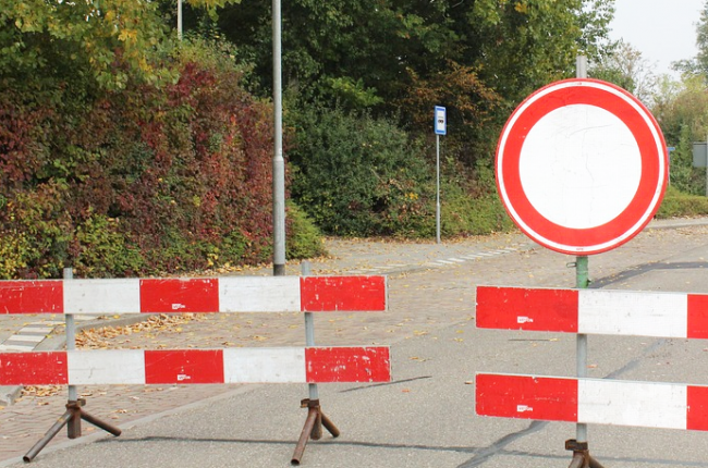 strada chiusa divieto