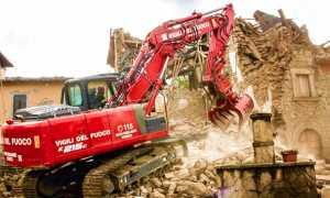 vigili fuoco terremoto scavatore