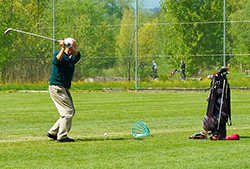 corta golf giocatore swing