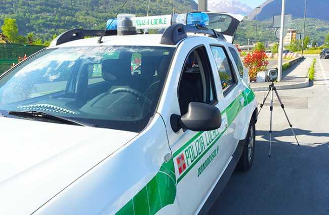 polizia locale controllo laser