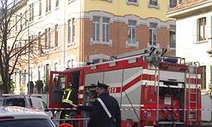 scuole milani incendio vigili fuoco
